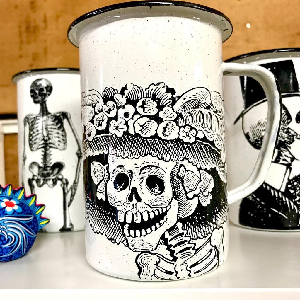 Large Catrina Enamel Mug (in stock)