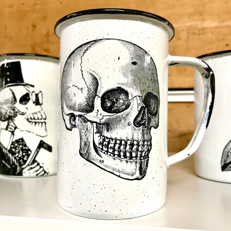 Large Skull Enamel Mug (in stock)