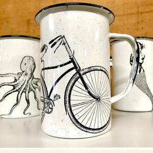 Large Bicycle Enamel Mug (in stock)