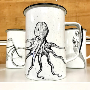 Large Octopus Enamel Mug (in stock)