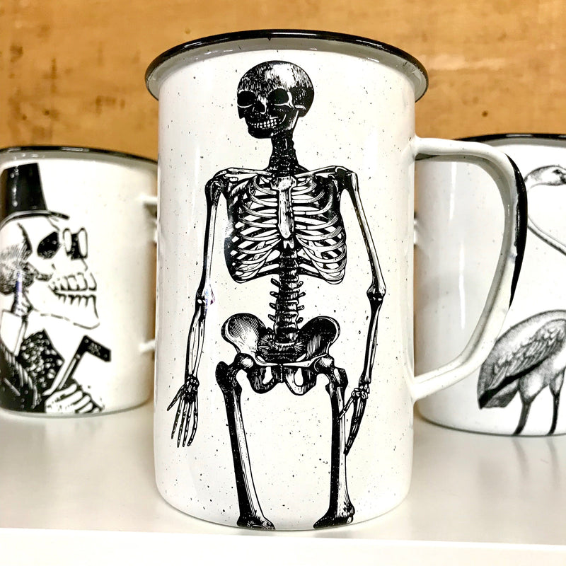 Large Skeleton Enamel Mug (in stock)