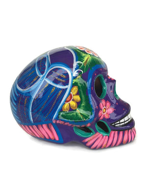 Large Purple Ceramic Calavera Glossy (ships in 2-8 weeks)