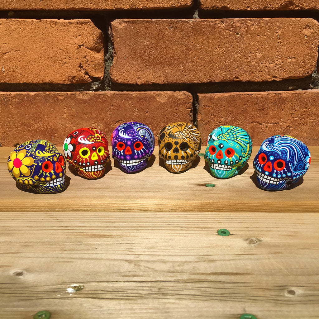 "Small 2"" Ceramic Sugar Skull Matte (one skull included) (ships in 2-8 weeks)"