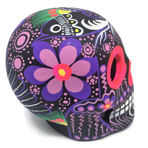 "3.75"" Medium Purple Bird Ceramic Calavera, Matte (ships in 2-8 weeks)"