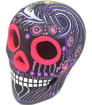 "3.75"" Medium Purple Bird Ceramic Calavera, Matte (in stock)"