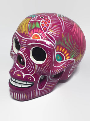 Large Pink Ceramic Calavera, Glossy (ships in 4-8 weeks)