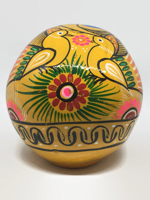Large Yellow Ceramic Calavera Glossy (ships in 4-8 weeks)