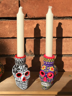Hand-painted Ceramic Candleholder