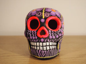 Purple Flower Skull