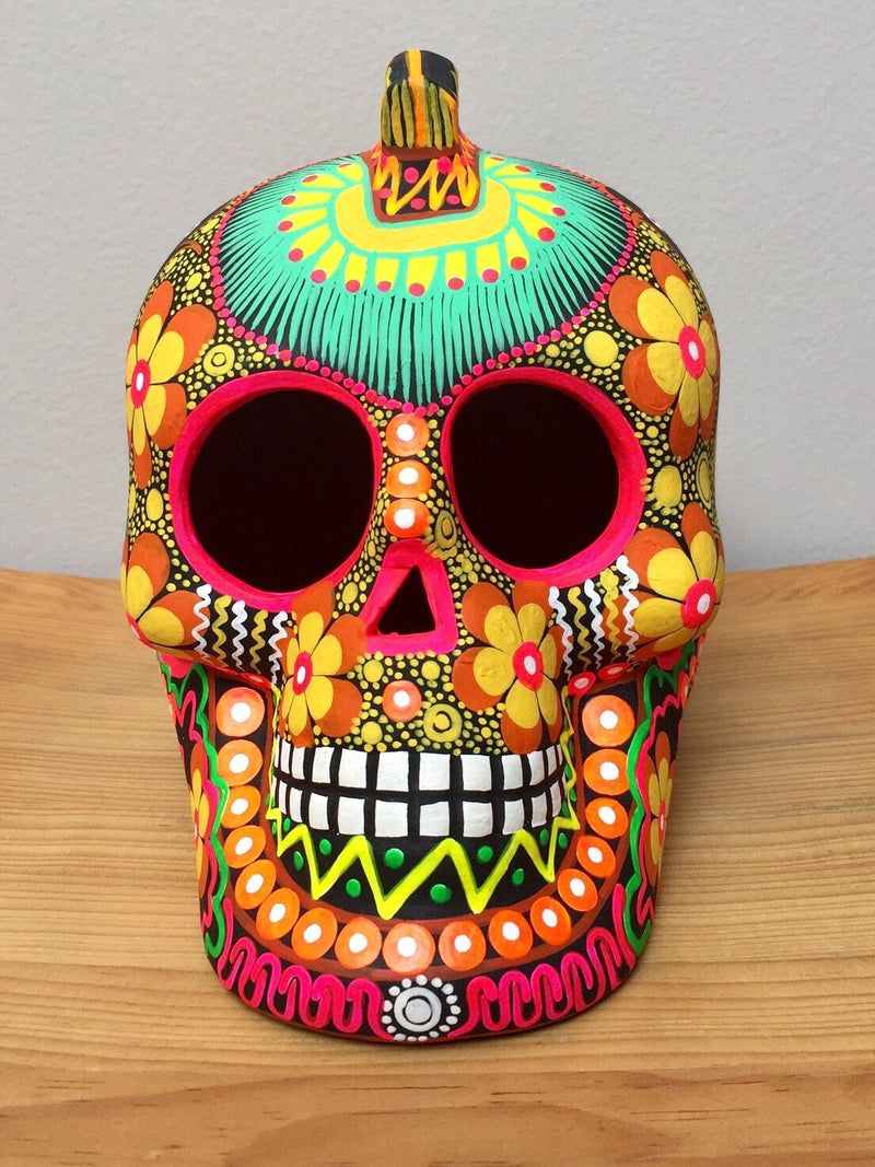 "7"" Large Hand-painted Punk Skull (by pre-order only) (Ships within 4-8 weeks)"