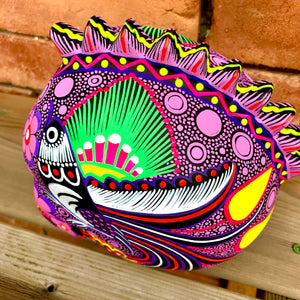 "7"" Large Hand-painted Ceramic Punk Calavera  Matte (pre-order only) (ships within 4-8 weeks)"