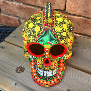 "7"" Large Ceramic Punk Calavera Matte (pre-order only)(ships within 4-8 weeks)"