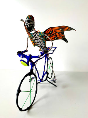 Day of the Dead Bicycle | Blue Bike (in stock)