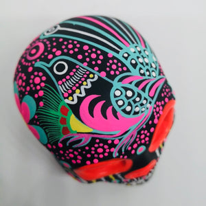 "3.75"" Black & Pink Ceramic Calavera, Matte (ships in 2-8 weeks)"