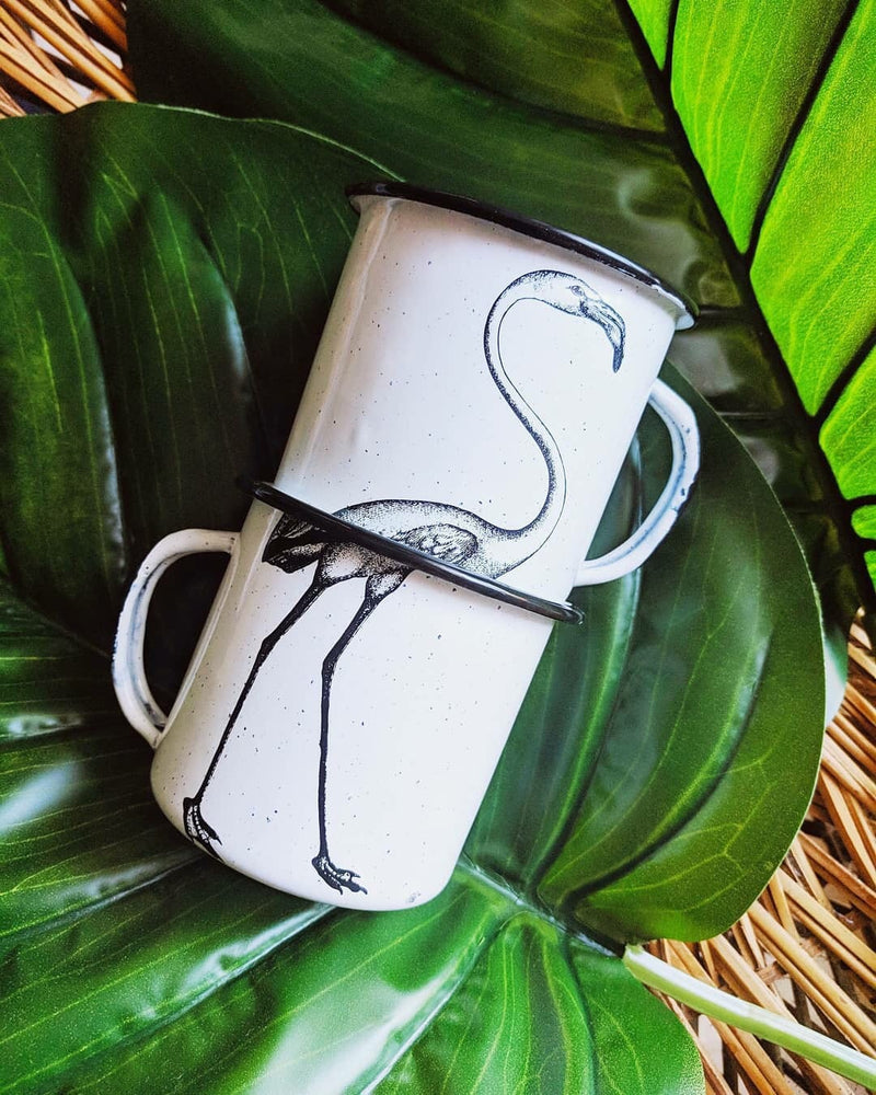Flamingo Mugs (2 coffee mugs) (in stock)