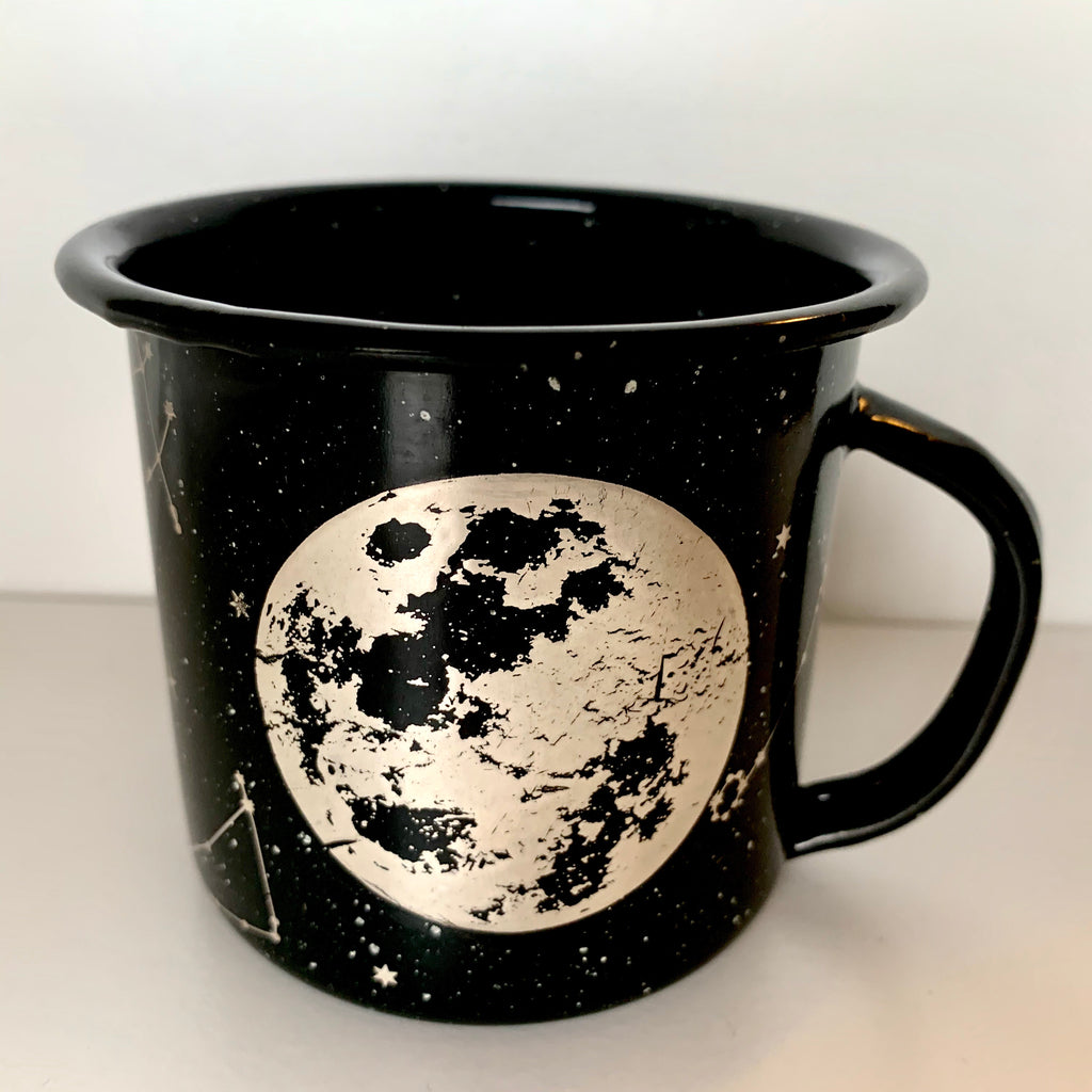 Moon and Constellations Enamel Mug (in stock)