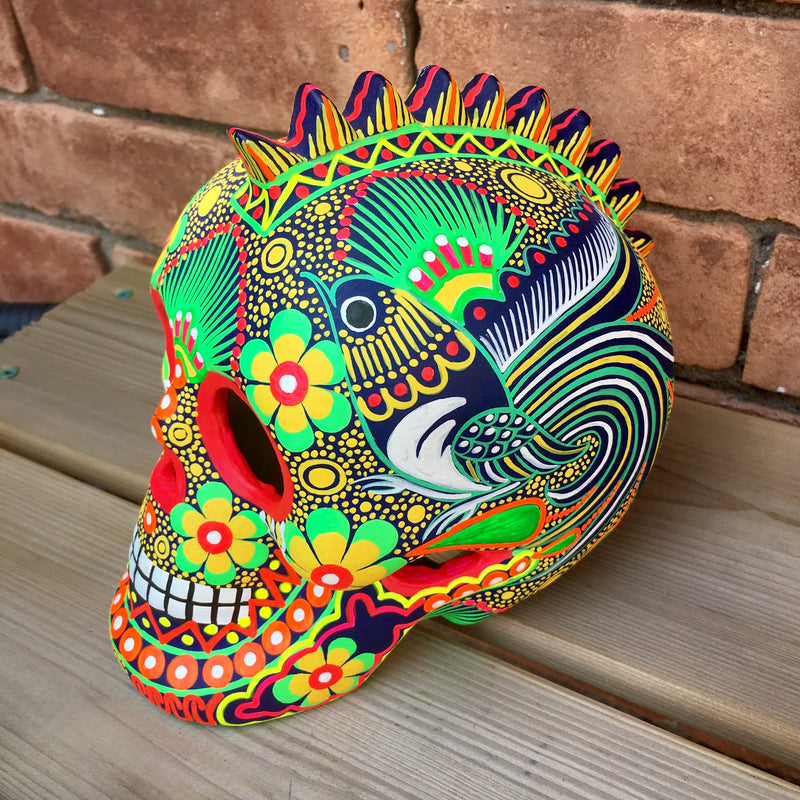 "7"" Large Hand-painted Ceramic Punk Skull Matte (pre-order only) (ships within 4-8 weeks)"