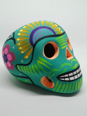 "3.5"" Hand-painted Ceramic Calavera, Matte (in stock)"
