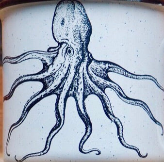 Octopus Enamel Beer Mug (ships between 2-4 weeks)