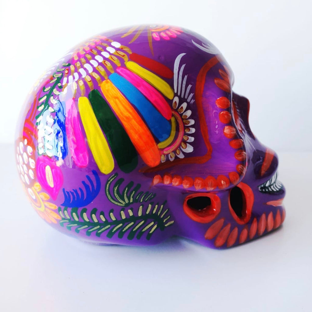 Large Hand-painted Ceramic Skull Glossy [JUST SOLD]