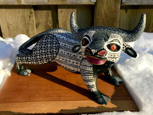 Hand-painted wooden Toro - alebrije