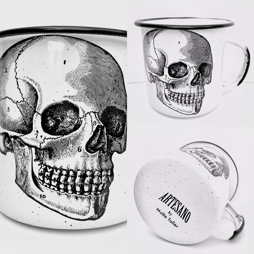 Skull Enamel Mug (in stock)