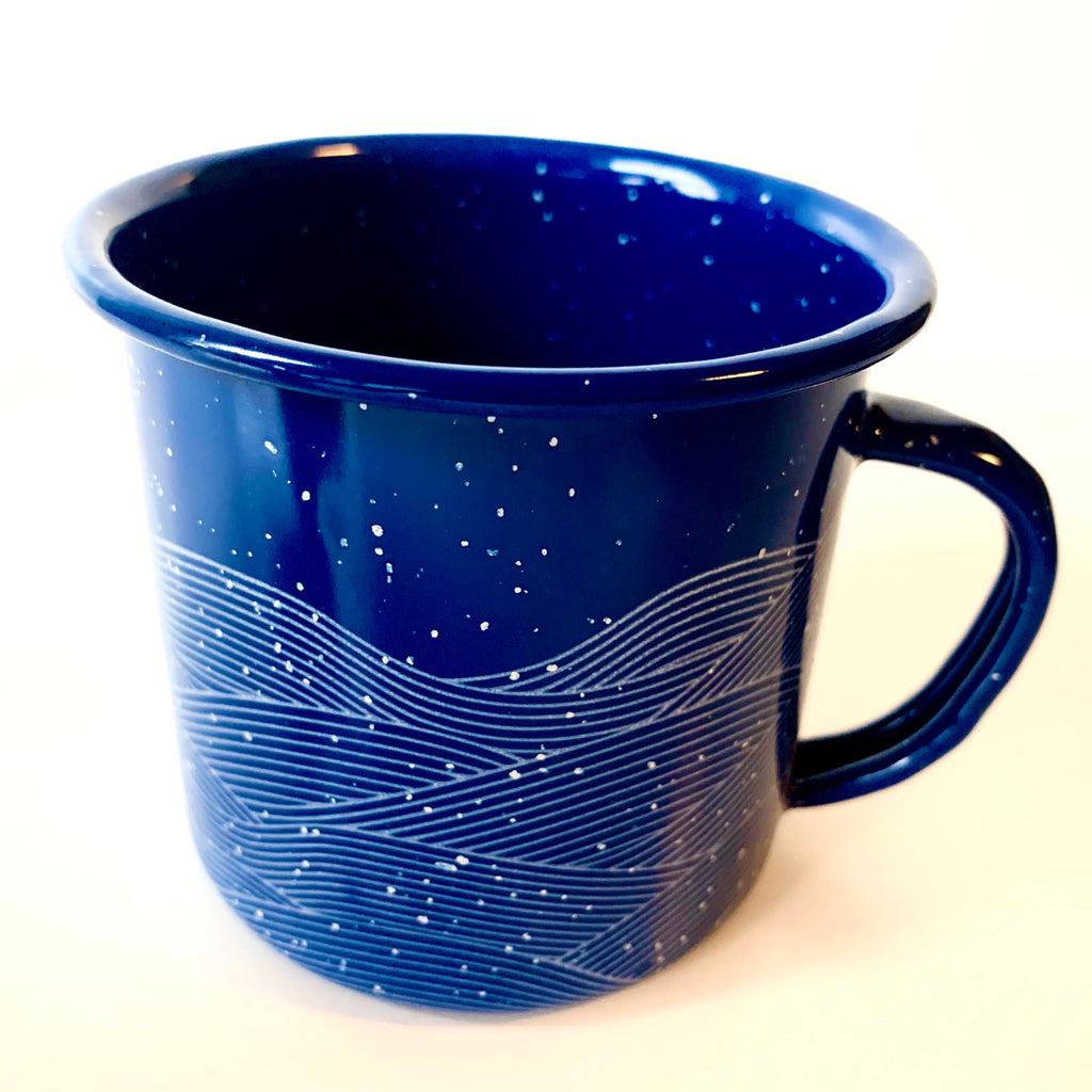 Blue Enamel Mug (in stock)