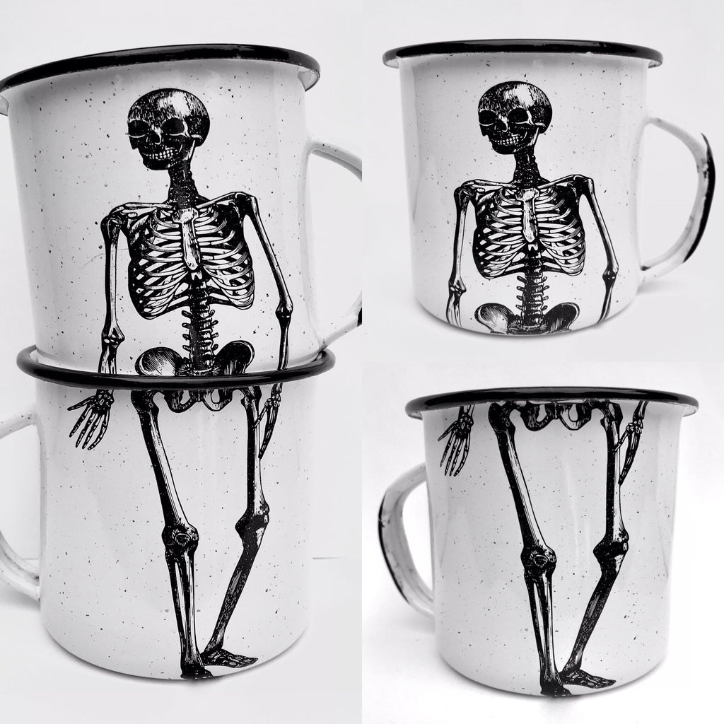 Skeleton Enamel Mug (in stock)