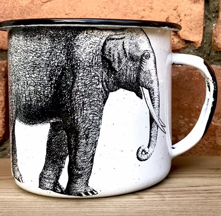 Elephant Enamel Mug (in stock)