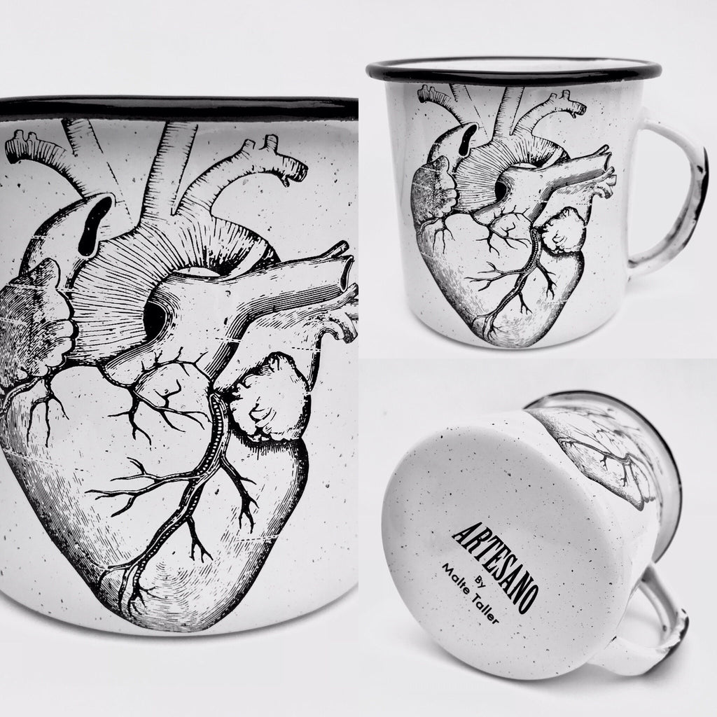 Anatomical Heart Enamel Mug (in stock)