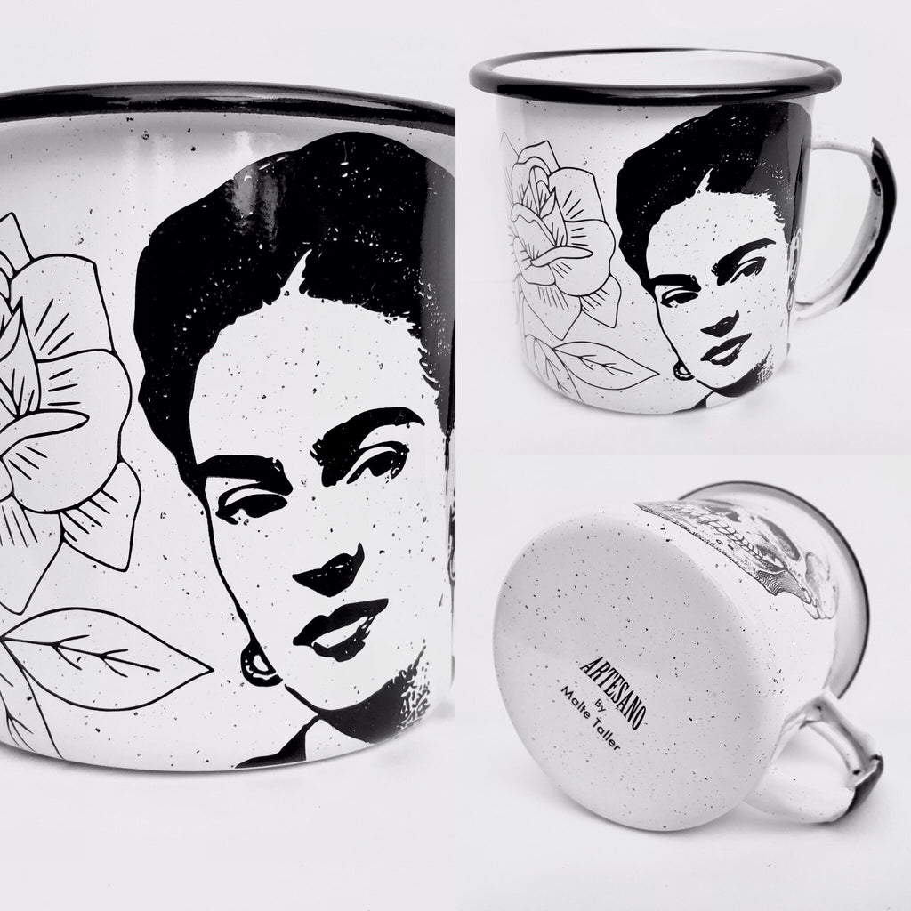 Frida Kahlo Enamel Mug (in stock)