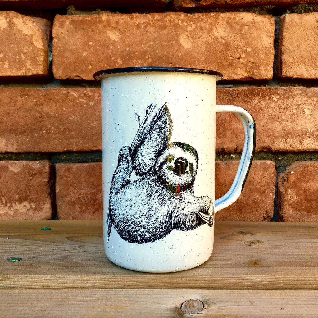 Sloth Enamel Beer Mug