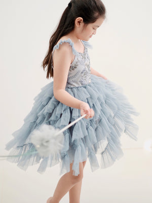 Lyra Tutu Dress | Dusty Blue