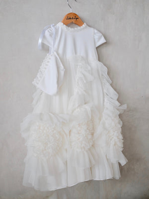 Lilah Christening Gown with Cap | Pre-Order | ETD: 6/22/2020