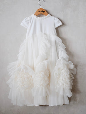 Lilah Christening Gown with Cap | Pre-Order | ETD: 12/10/2019