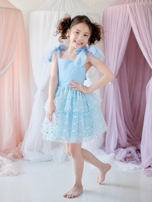 Blanche Tutu Dress | Rainbow Confetti