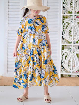 Sigrid Tiered Midi Dress