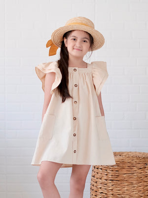 Esmae Linen Dress | Warm Beige