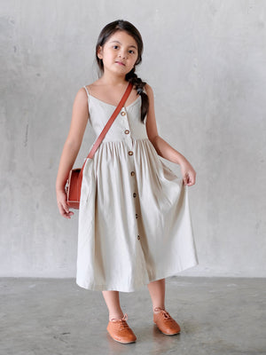 Tara Button Down Dress (Linen)