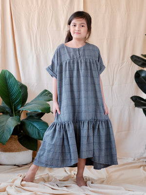Suki Dress | Checkered Gray