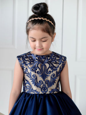 Adeline Lace Dress (Midnight Blue)