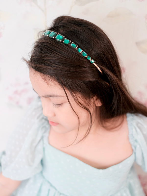 Jeweled Headband | Emerald Green