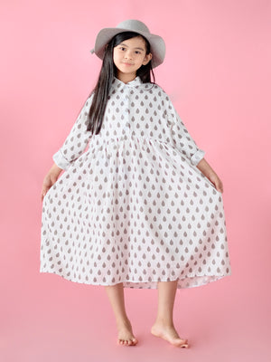 Frankie Dress (Raindrop Print)
