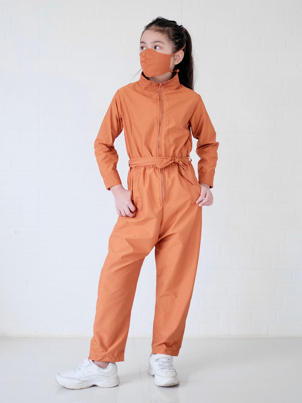 Utility Coveralls Set with Mask | Cinnamon