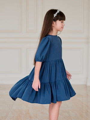 Marione Doll Dress | Classic Blue