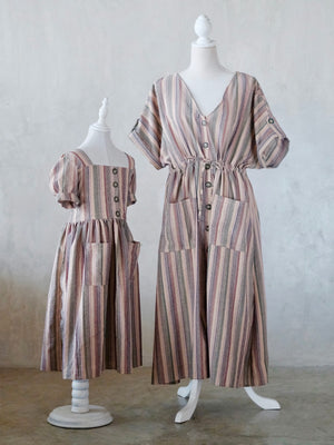 Button Down Stripe Dress | Adult Size Preorder ETD: 10/09/2019