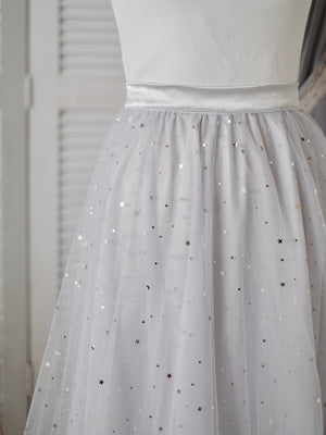 Long Tutu Skirt Adult Size | Stardust in Gray (Petite) Preorder ETD: 12/5/2019