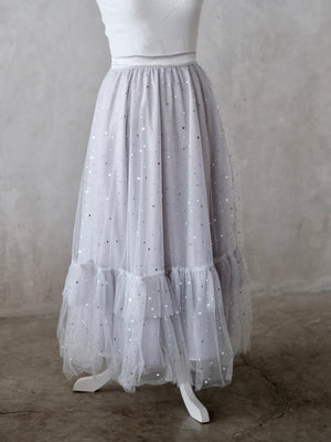 Long Tutu Skirt Adult Size | Stardust in Gray | Preorder ETD: 12/5/2019
