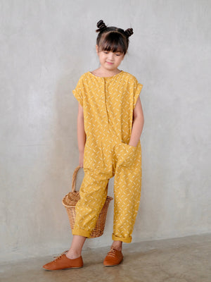 Delaney Jumpsuit (Feather Print)