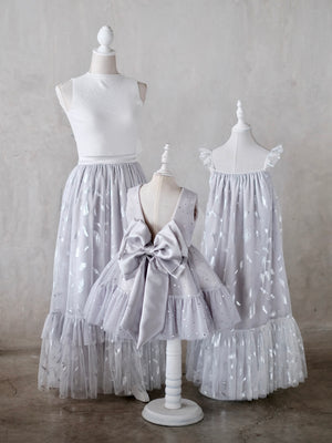 Long Tutu Skirt Adult Size | Feather in Gray (Petite) Preorder ETD: 11/21/2019